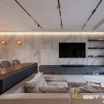Tham khảo mẫu thiết kế nội thất chung cư 110m2 đẹp hút mắt